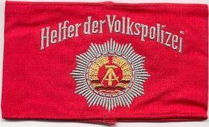 DDR, vrijwilliger bij de Volkspolitie