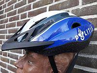 Helm politiebiker Fryslan, met dank aan Marcel de Vries