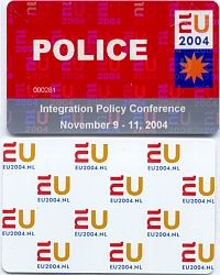 Toegangspasjes Ministersconferentie 2004