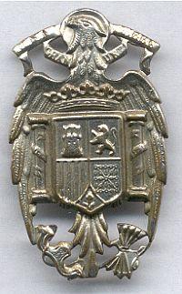 Nationale politie, petembleem, gebruikt ten tijde van het regime van Franco, 1939 - 1975