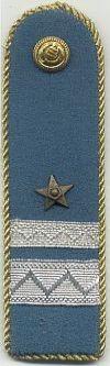 Militia, adjudant - onderofficier, 1949 - 1989
