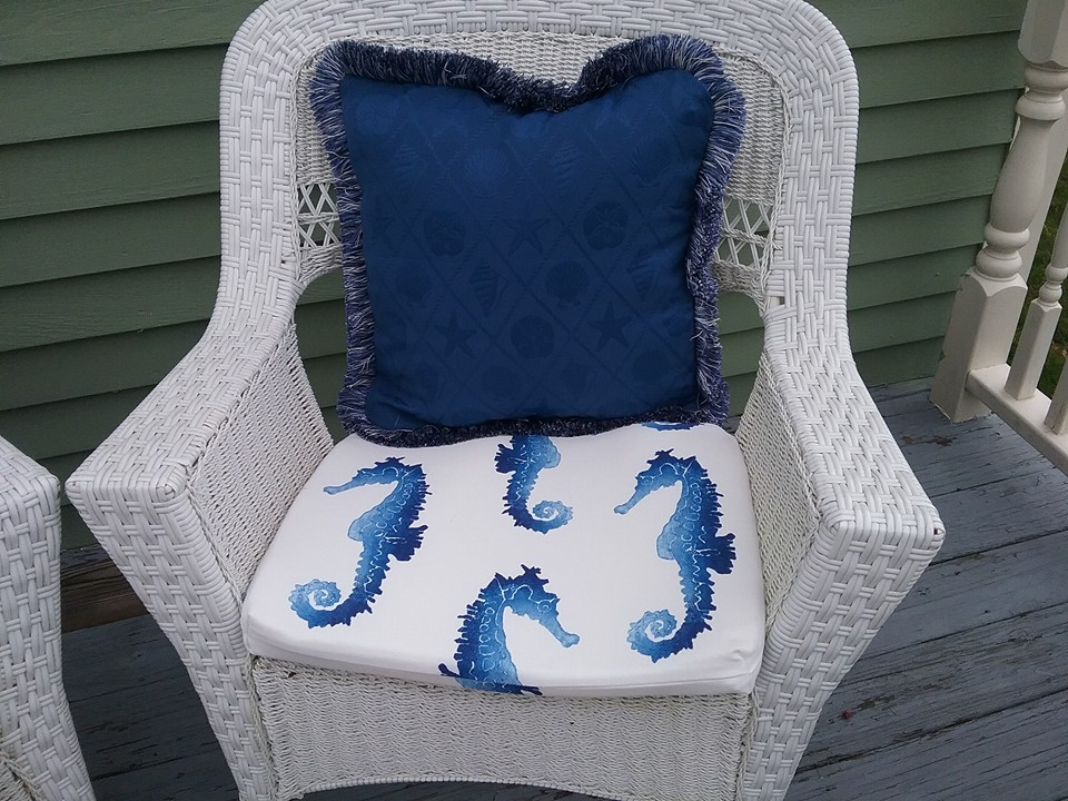 Seat cushions beach house