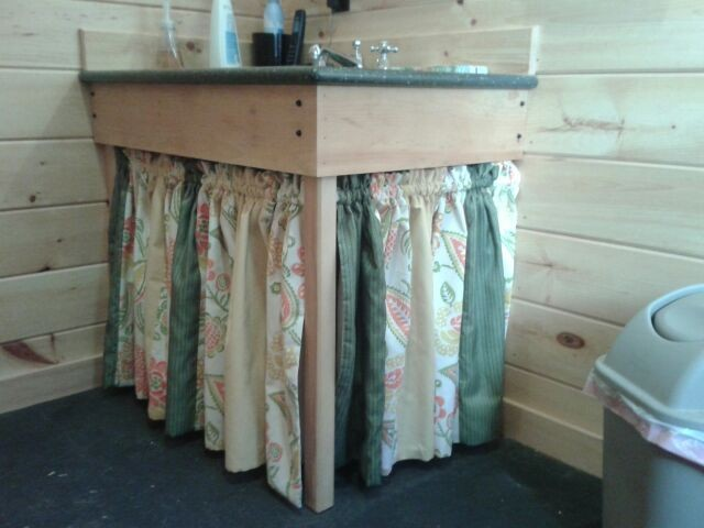 Bathroom Sink Skirt