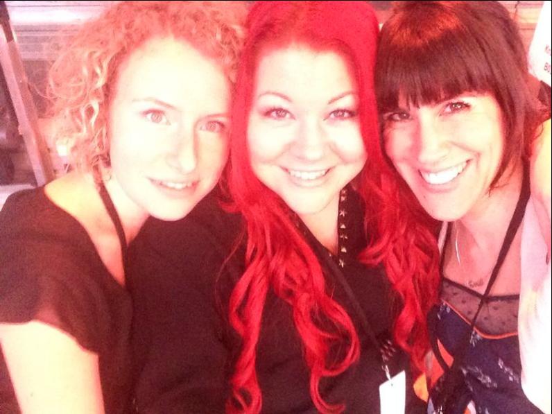 """mit meinen beiden Vocalcoaching Kollegen - Backstage bei der RTL Show """"RISING STAR"""""""