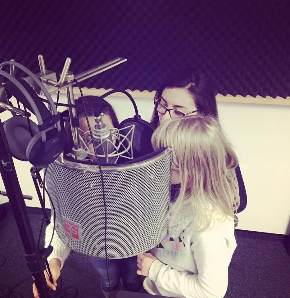 Vocalcoaching & Recordings mit drei der kleinsten Schüler