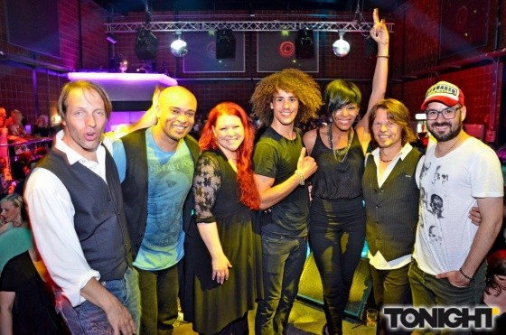 28.07.2012 Fresh Music Live Party im Rudas (Andreas Recktenwald, Charles Simmons, Benjamin Rose, Vanessa Ekpenyong, Mike Holland, Mario Garruccio)