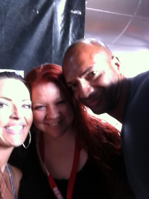 04.08.2012 REWE Family in Düsseldorf / Backstage mit Kate Hall & Detlef D Soost