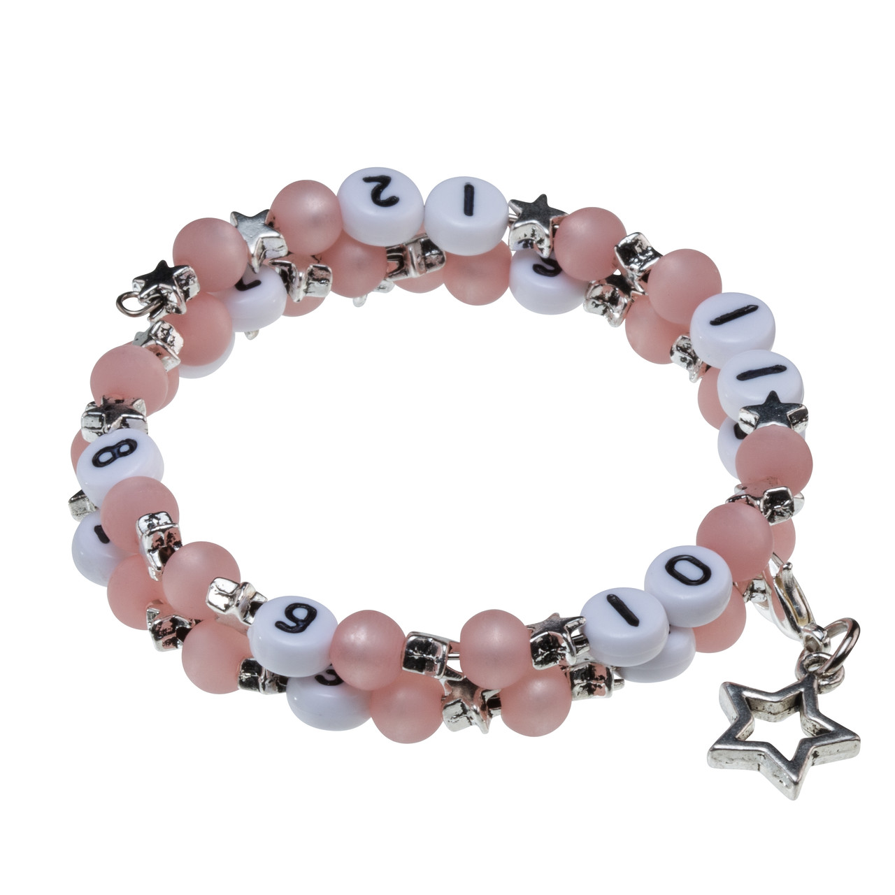 Stillarmband Stars in rosa