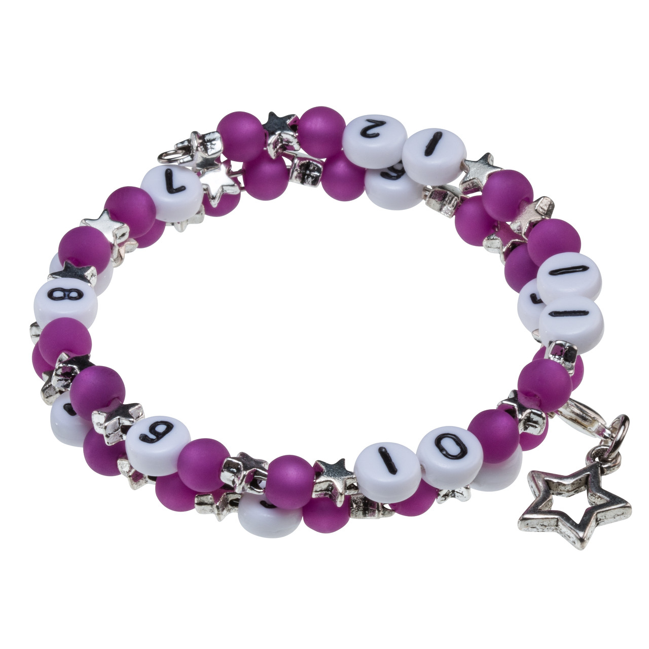 Stillarmband Stars in lila