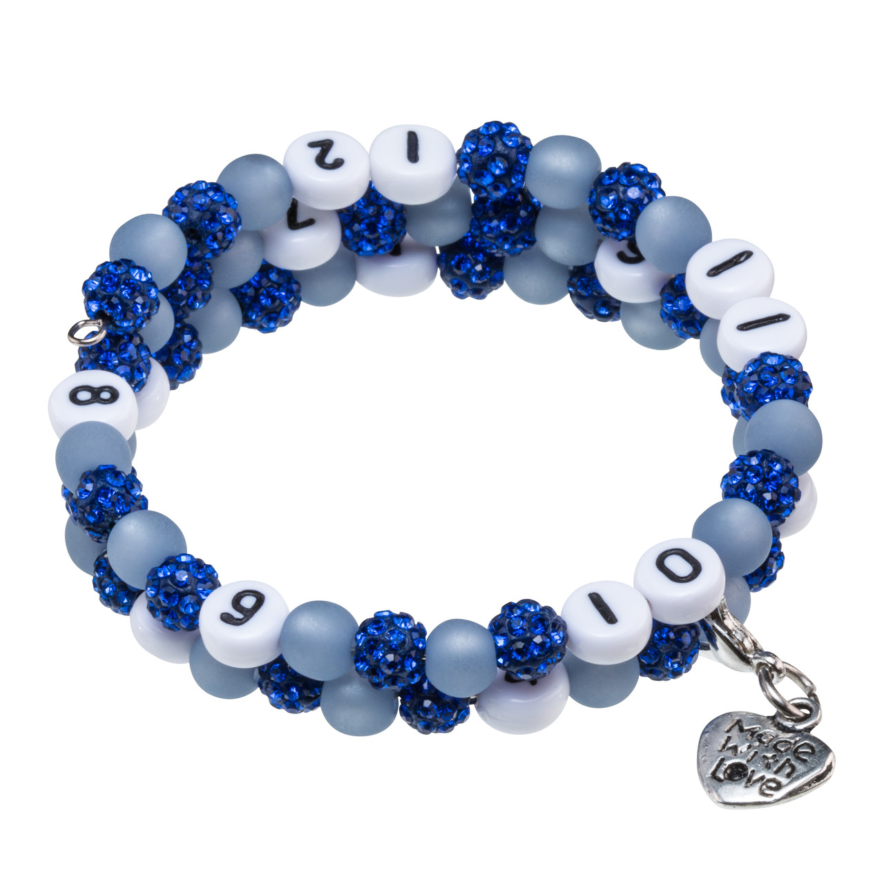 Stillarmband Glamour in blau