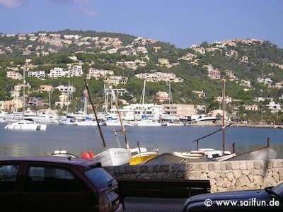 Blick in den Hafen von Puerto de Andratx