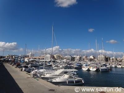 Blick in den Yachthafen von Ca'n Pastilla
