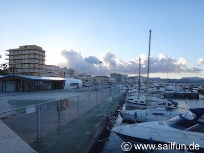 Zugang zum Yachthafen in Ca'n Picafort