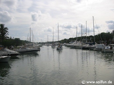 Einfahrt in den Hafen von Cala D'Or