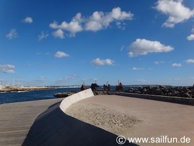 Neue Hafenmole in Ca'n Pastilla nähe Marina
