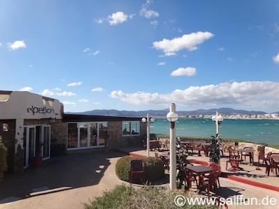 Das Restaurant Elpenon an der Strandpromenade