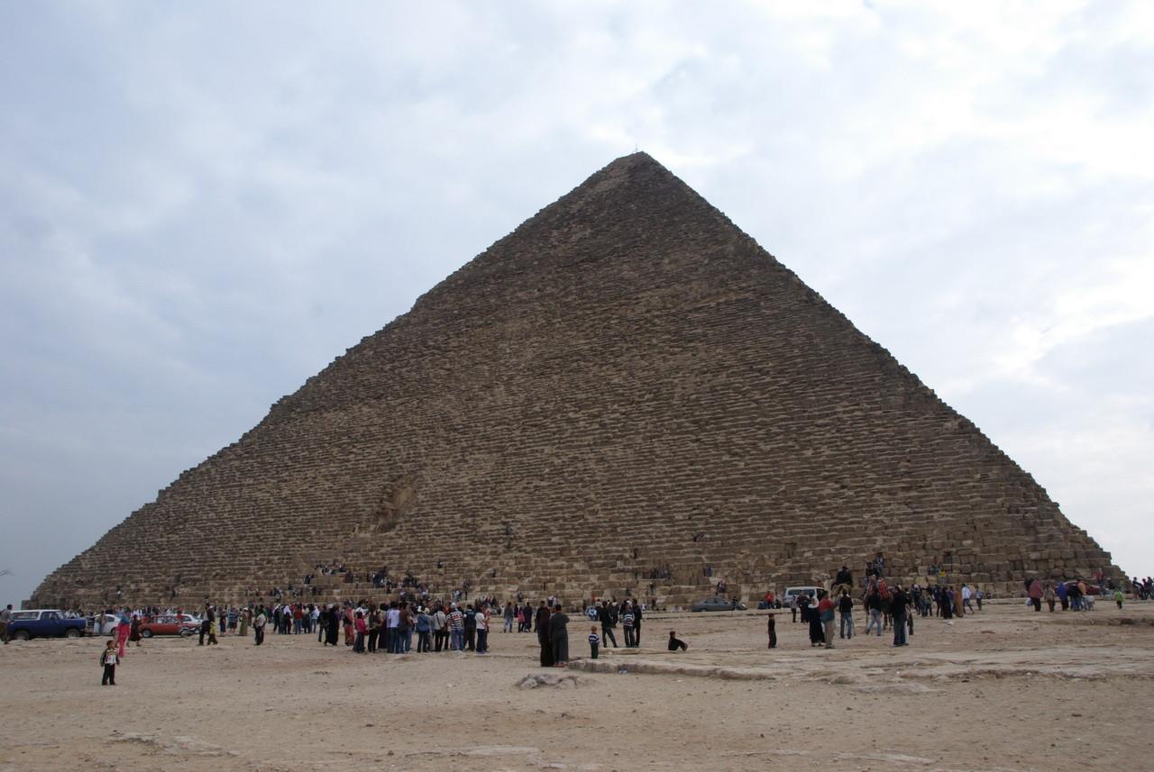 Und ab gehts in die Pyramide