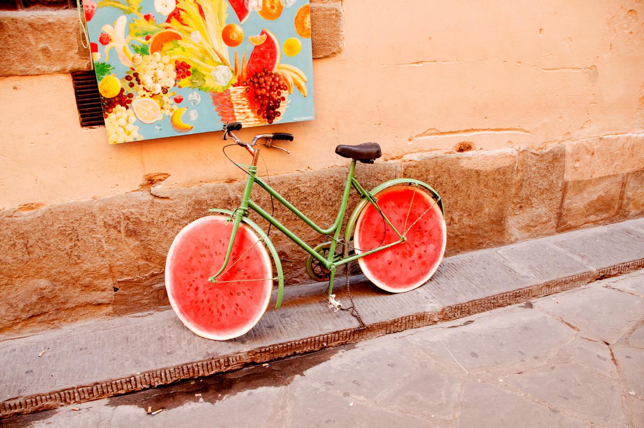 """""""Melonen""""-Fahrrad"""