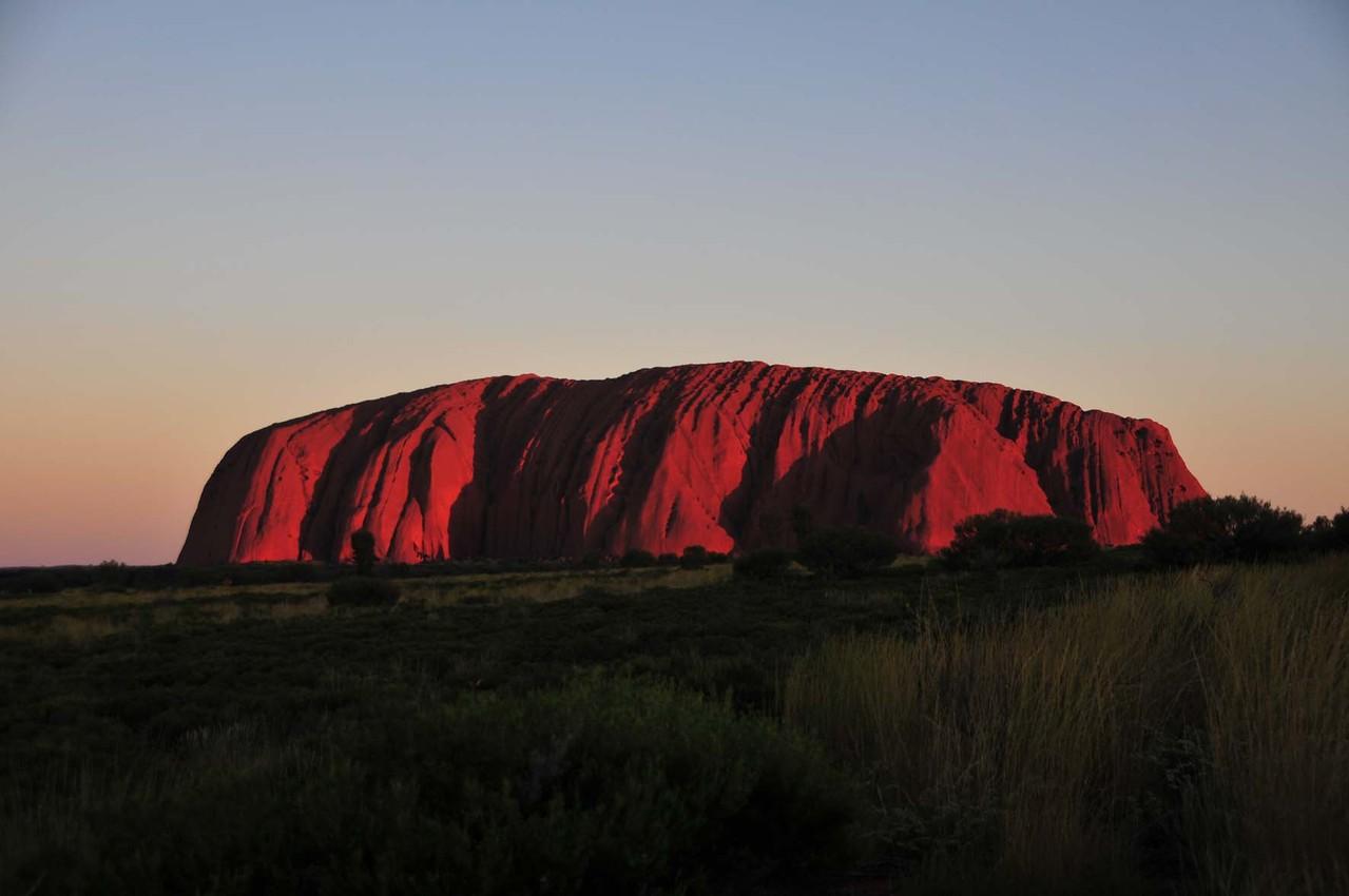 "Sonnenuntergang am ""Uluru"" (Ayers Rock)"