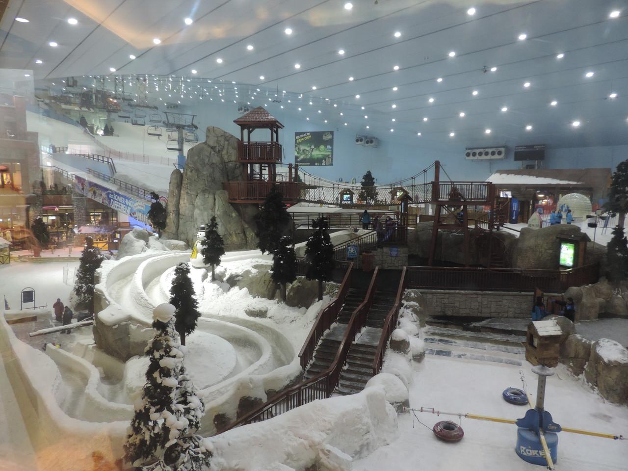 Skifahren im Einkaufscenter