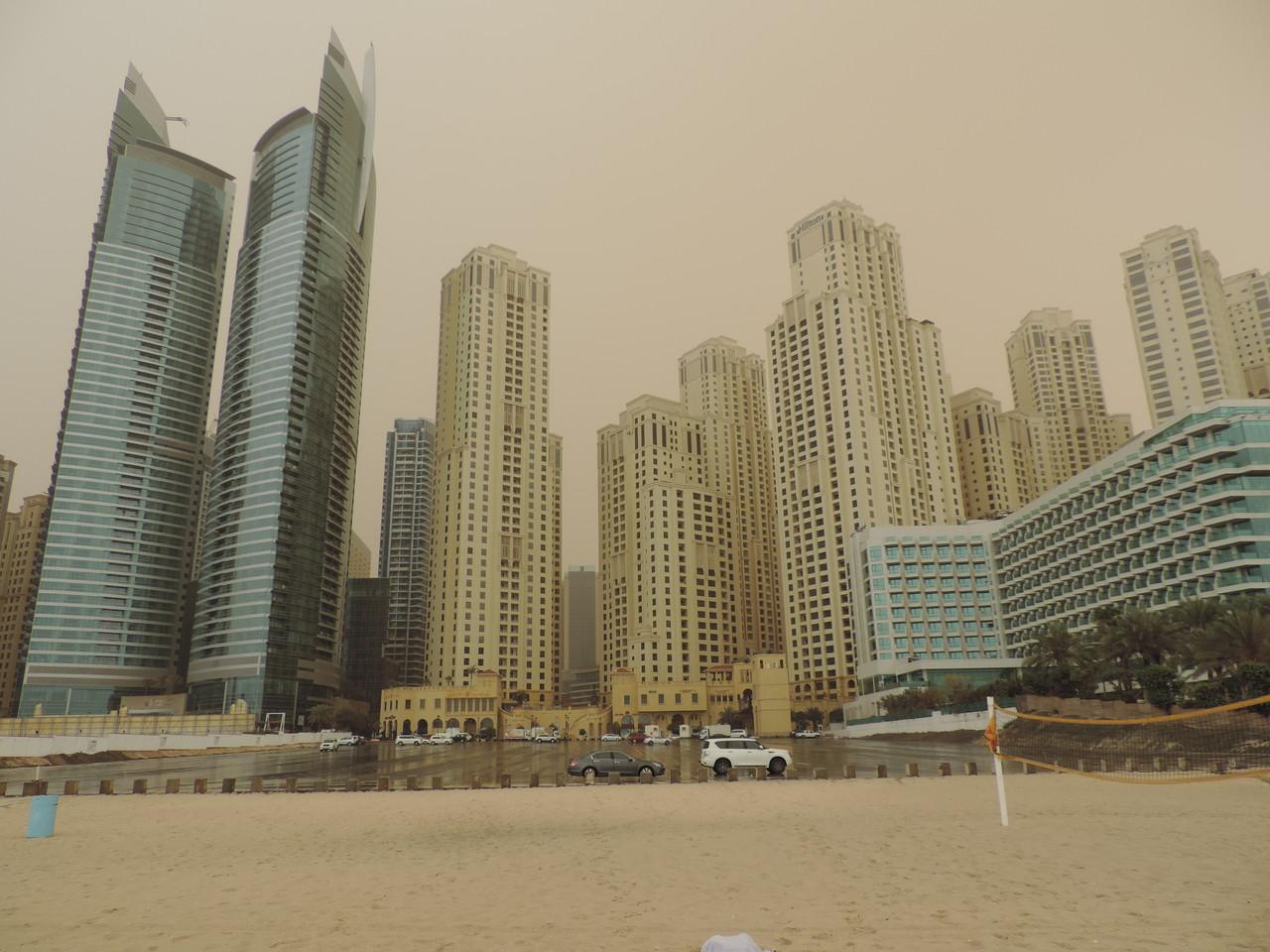 Ankunft nach Sandsturm