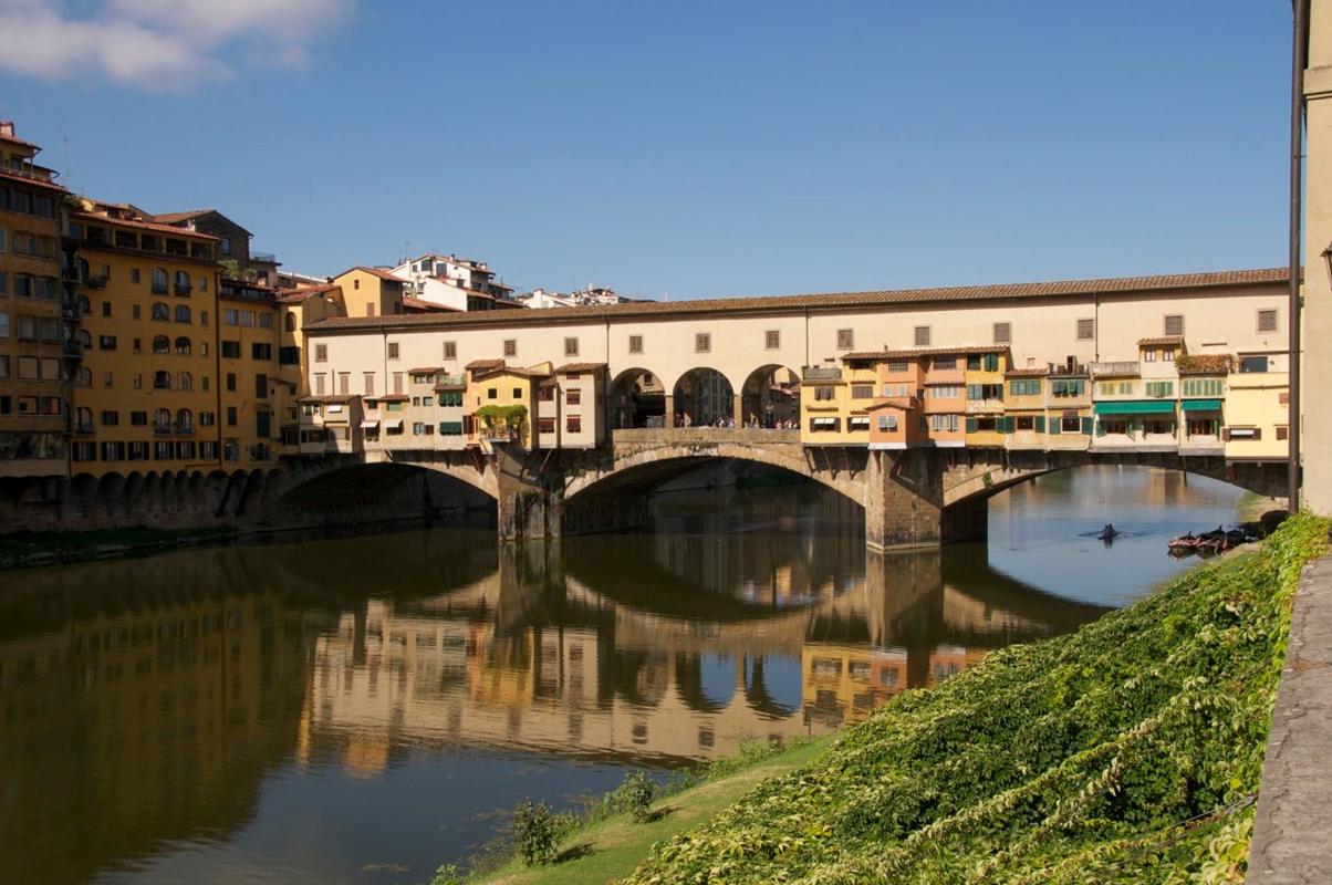"""Weekend in Florenz, die """"Ponte Vecchio"""" gleich neben dem Hotel"""