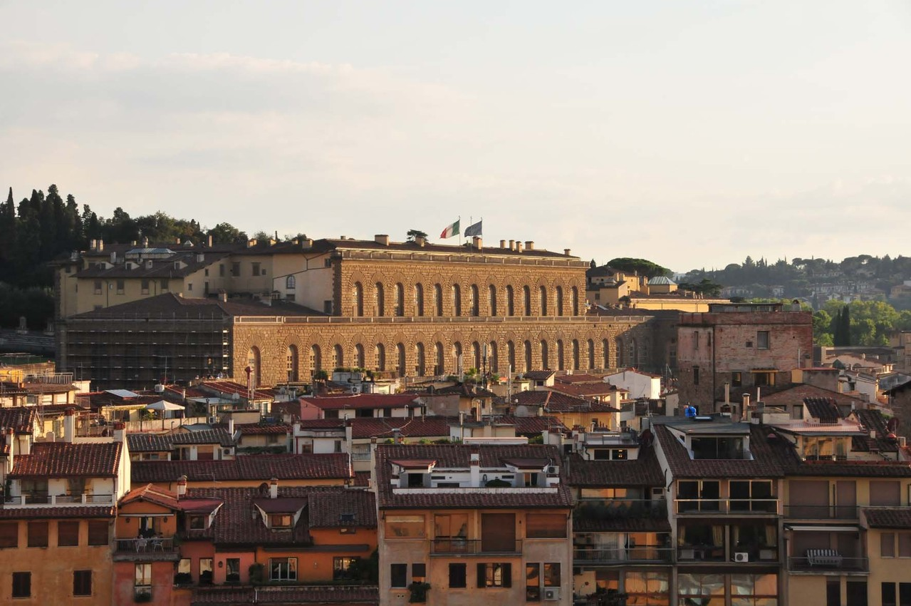 "Ausblick auf den ""Palazzo Pitti"""
