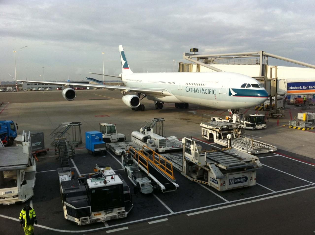 1. Etappe via Zürich und Amsterdam nach Hong Kong