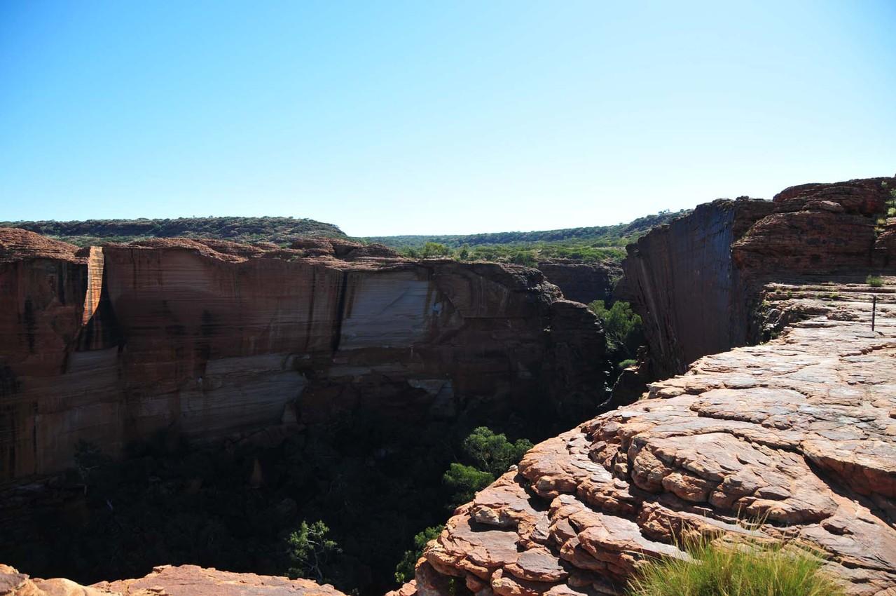 Aussicht von oben in den Canyon