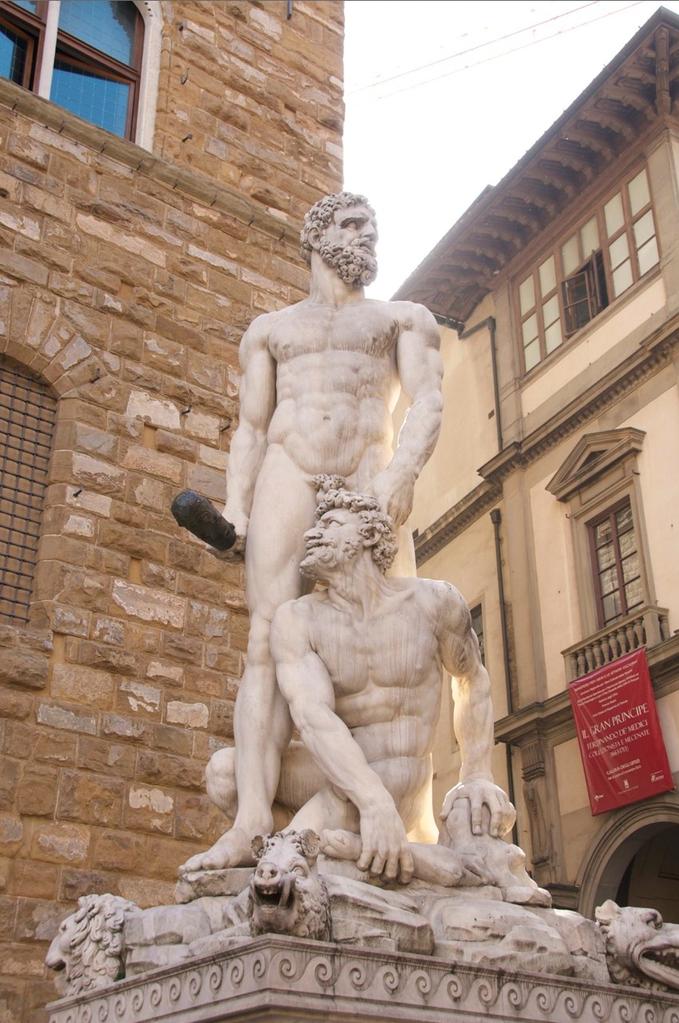 Hercules und Cacus Skulptur von Baccio Bandinelli