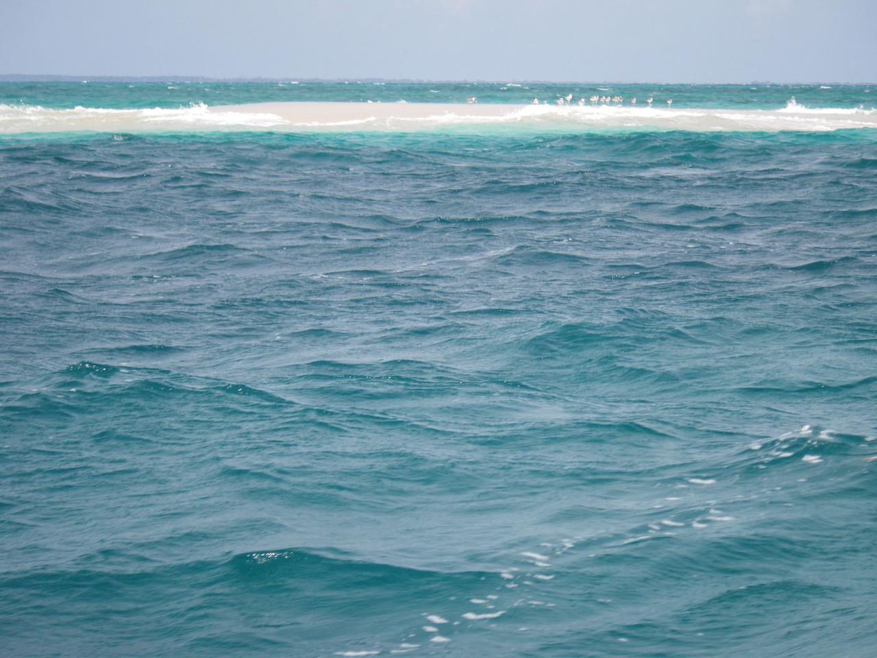 ...da die Flut das ganze Inselchen überspült