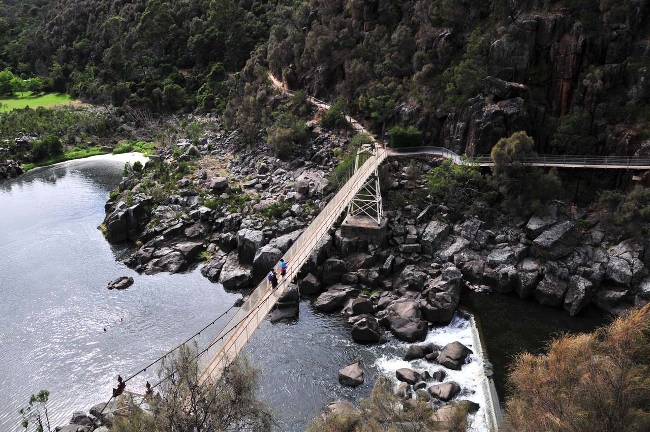 "Der ""Cataract Gorge"" in Launceston"