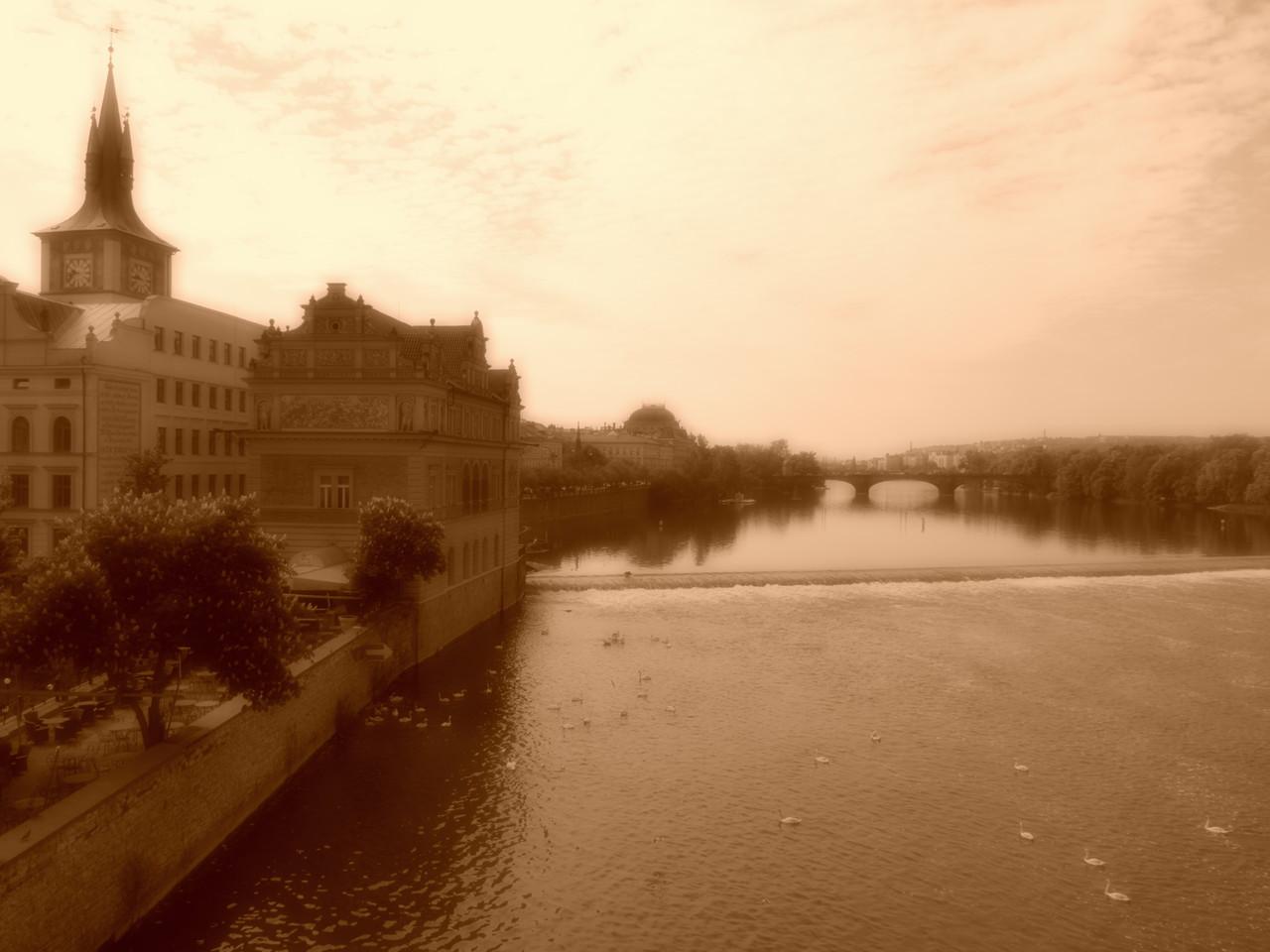 Moldau von Karlsbrücke