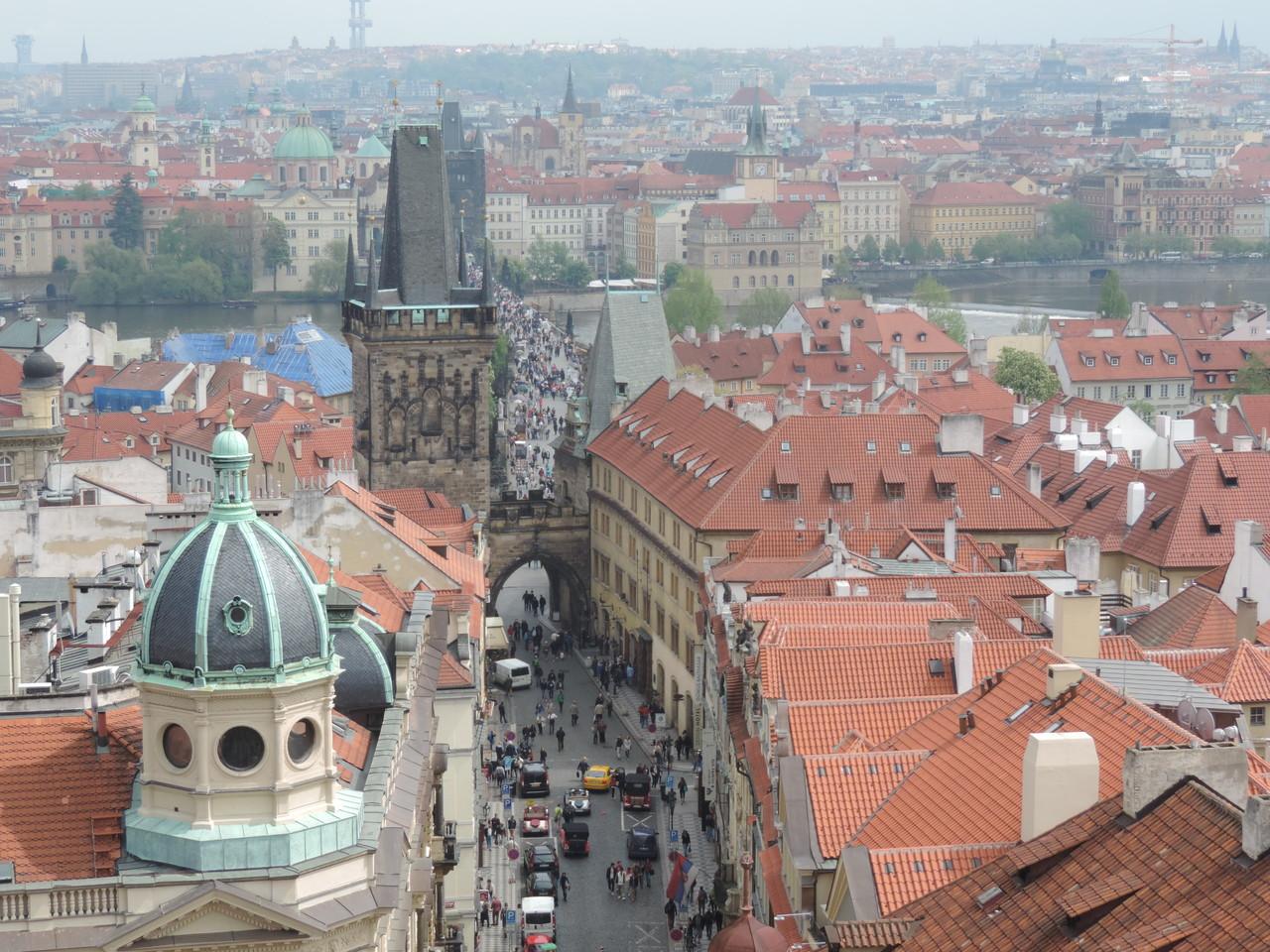 Ausblick von der Kleinseitner St. Niklas Kirche