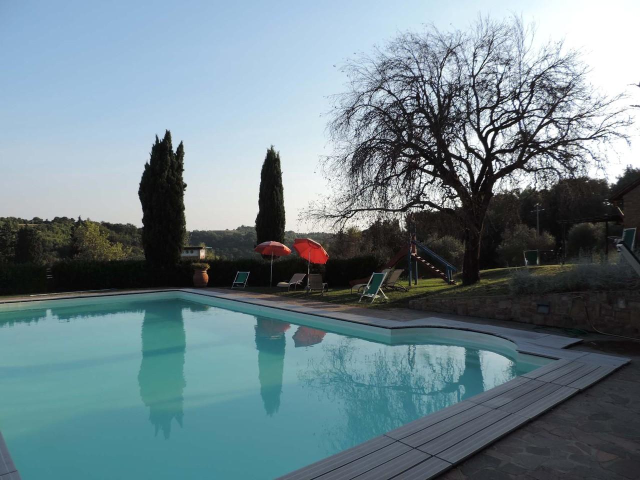 Der Pool vor unserer Ferienwohnung