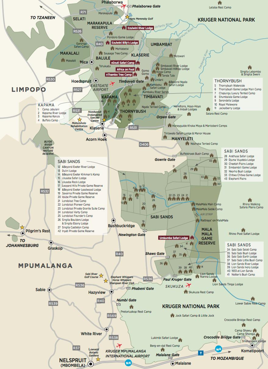 ...und dort in Richtung Simbavati River Lodge