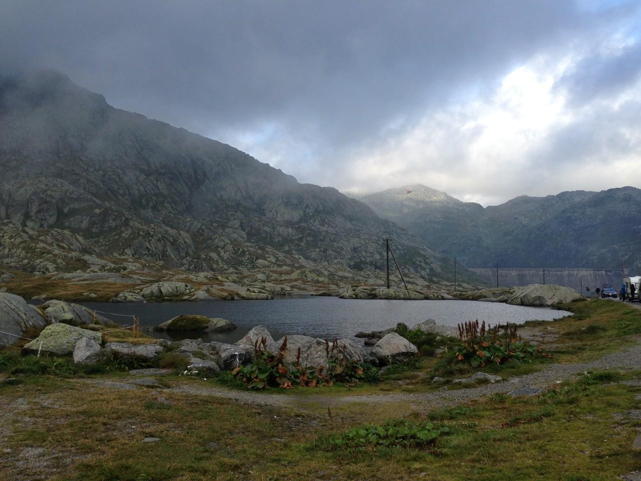 Auf dem Hinweg über den Gotthard Pass (10 Grad)