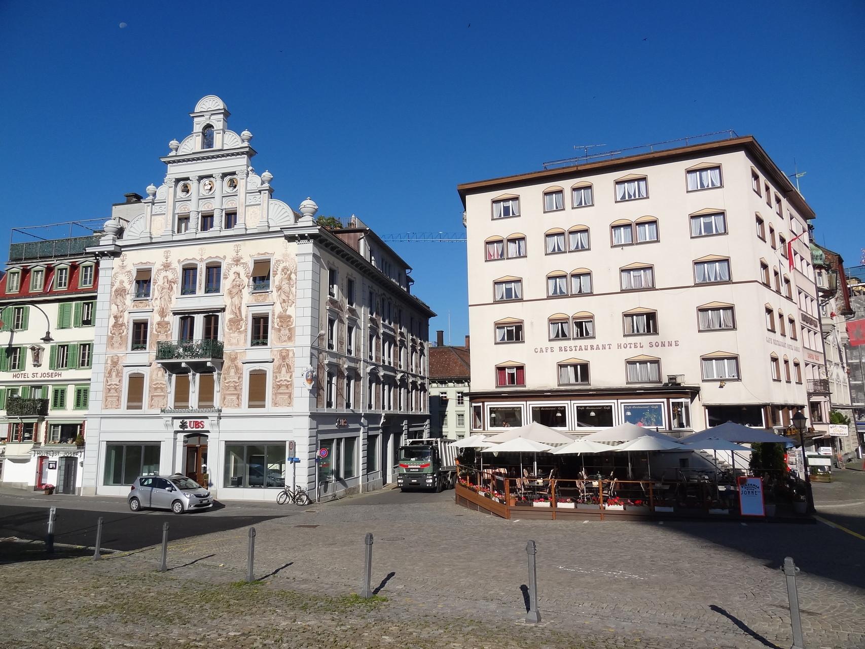 Einsiedeln - Das Hotel gleich vis-a-vis