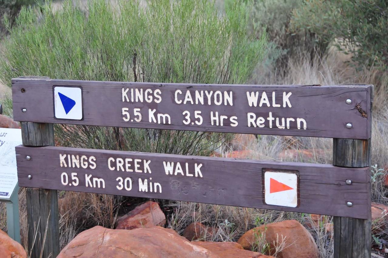 Ist ja 4 Uhr morgens, da ist noch viel Zeit, also Canyon Walk