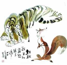 狐假虎威            El zorro aprovecha el poder del tigre