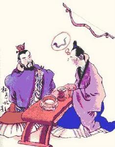 杯弓蛇影      El reflejo del arco en la copa, una serpiente