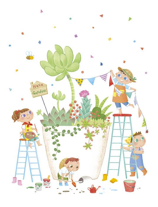 カワイイ子供たちのイラスト / Nodakazumi Illustration