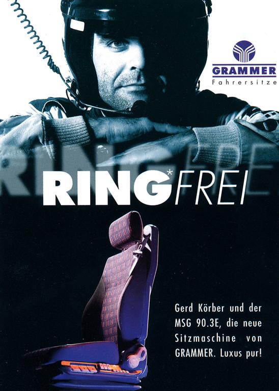 Ganzseitige Anzeige für Fach- und Publikumszeitschriften. Dieses Motiv war auch als Poster bei den Fans am Nürburgring sehr gefragt.