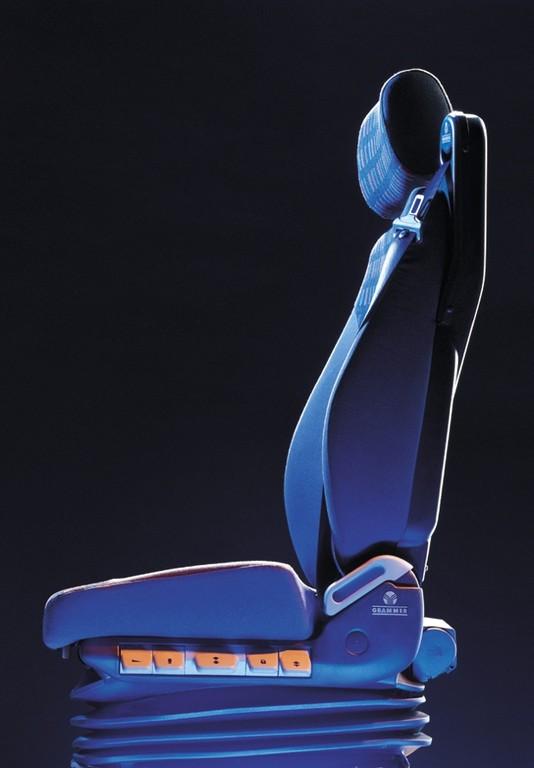 Um dieses Produkt drehte sich alles: Die High-Tech Lkw-Sitzmaschine von Grammer.