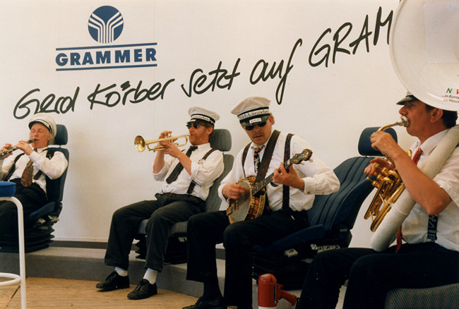 Die Dixieband Milchkännchen aus Düsseldorf war jedes Jahr dabei.
