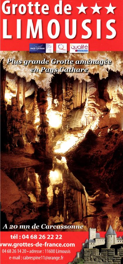 Grotte de Limousis mobilhome sigean