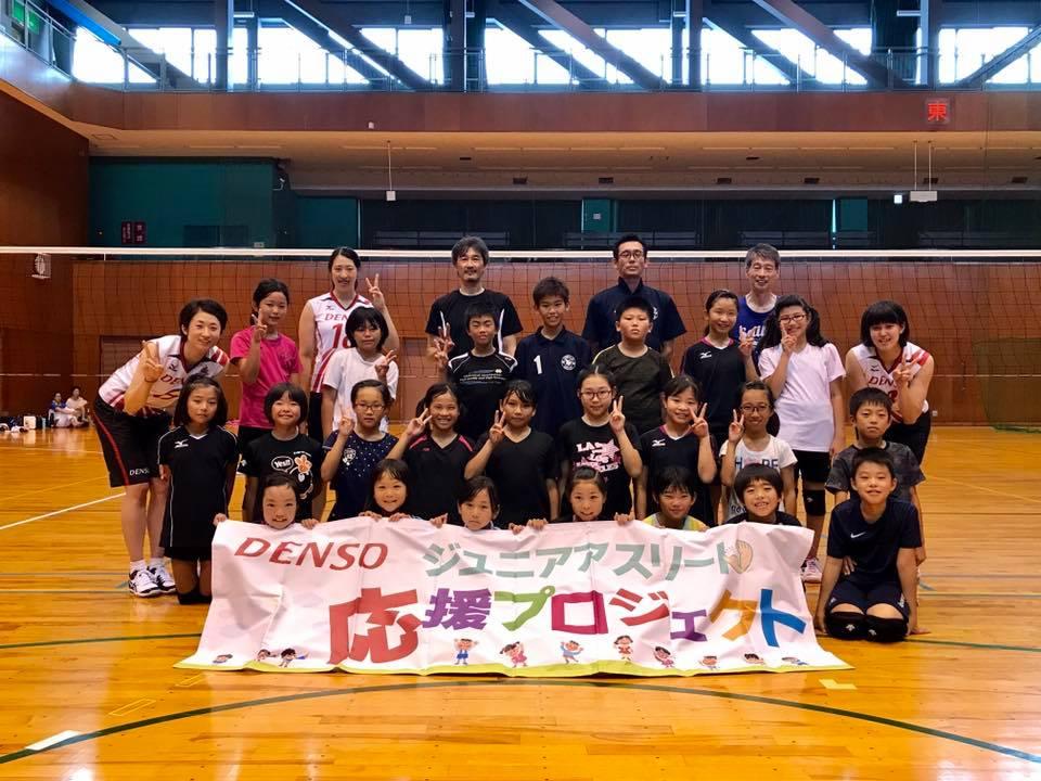 知立ミニバレーボール教室の皆さん(担当:ユウコ、ミオ、クウ)