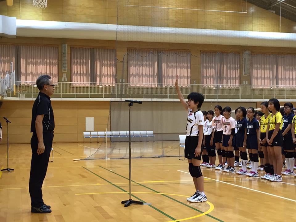 開会式の様子 力強い選手宣誓!!