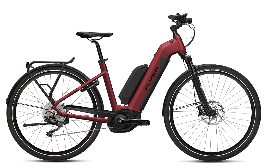 Flyer E-Bike Uprstreet 4 Tiefeinsteigerrahmen red brown dual