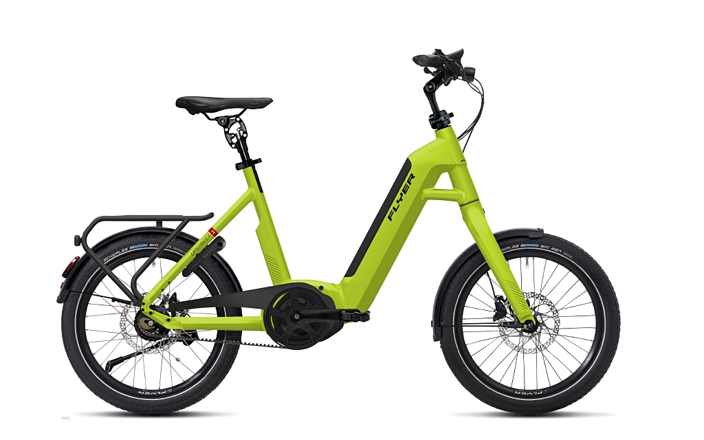 Flyer E-Bike Upstreet 1 Tiefeinsteigerrahmen lime green
